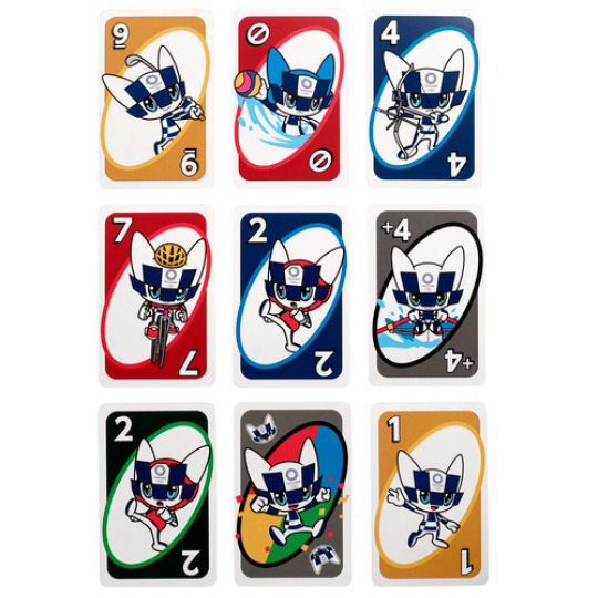 Tokyo 2020 Olympics Mascots Uno Deck