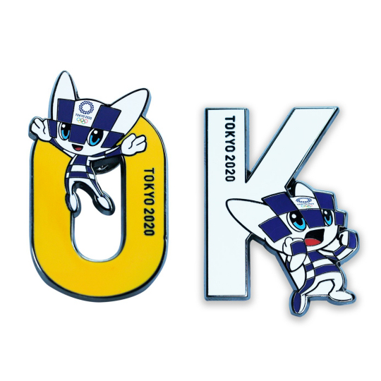 Tokyo 2020 Olympics Mascot Pin Badge Set