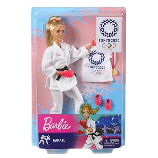 Tokyo 2020 Olympics Barbie Doll Karate Athlete