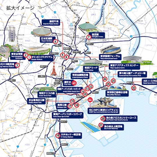 Tokyo 2020 Olympics And Paralympics Official Venues Map Japan Trend Shop