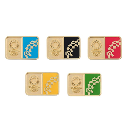 Tokyo 2020 Olympics Official Pin Badge Set