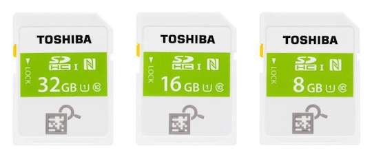 Toshiba NFC-enabled SDHC Memory Card