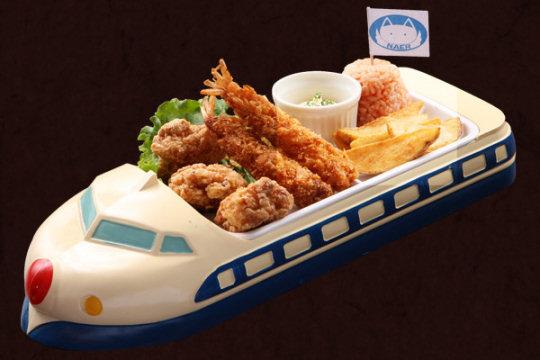 Blue Shinkansen Children's Lunch Tray