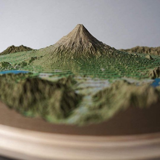 Yamatsumi Mount Fuji and Five Lakes Realistic Papercraft Model
