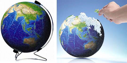 3D Blue Earth Puzzle by Kagaya