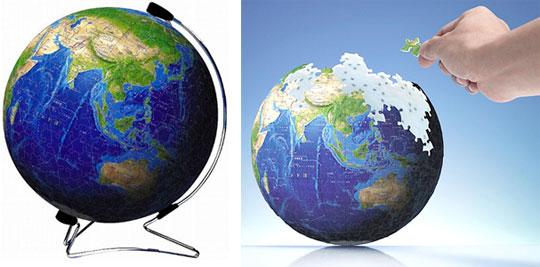 3D Blue Earth Puzzle by Kagaya