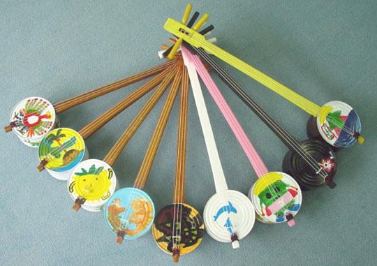 Kankara Sanshin Okinawan instrument