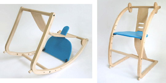 Lifestyle - New Bambini convertible chair from Toshimitsu Sasaki - Japan Trend Shop