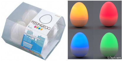 Feeling Egg bath lifestyle lights - Japan Trend Shop :  ambient eggs lighting