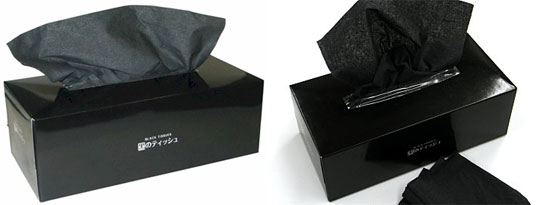 20 Boxes Black Tissues