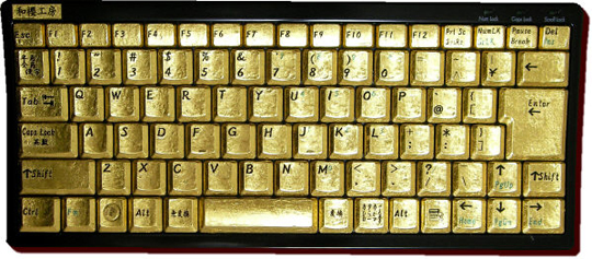 Japan Trend Shop | Kirameki Pure Gold Keyboard