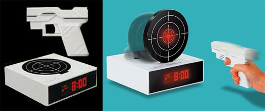Gun O'Clock Shooting Alarm Clock by Bandai