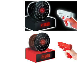 Gun OClock Shooting Alarm Clock by Bandai