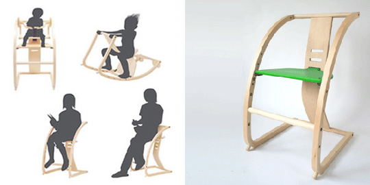 New Bambini convertible chair from Toshimitsu Sasaki