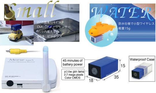 RC 12 Wireless Mini Waterproof Video Camera
