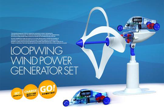 Japan Trend Shop Loop Wing Wind Power Generator And Car
